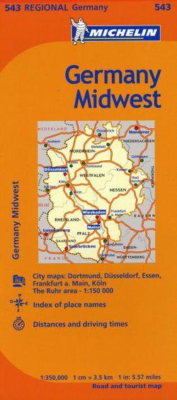 Michelin Map Of Germany.Michelin Map 543 Germany Midwest By Michelin