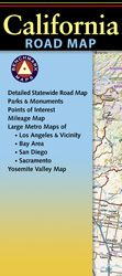 California Recreational Road Map by Benchmark