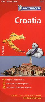Croatia Travel Map by Michelin