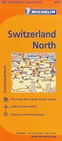 Switzerland North Travel Map by Michelin