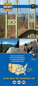 Washington & Oregon Scenic Tours Map by Madmap
