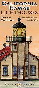 California & Hawaii Lighthouses Map by Bella Terra