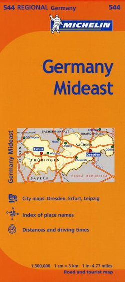 Michelin Map Of Germany.Michelin Map 544 Germany Mideast Travel Map By Michelin