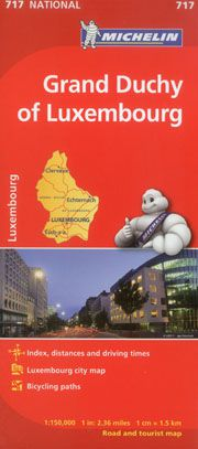 Luxembourg Travel Map by Michelin