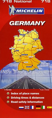 Germany Road Map by Michelin