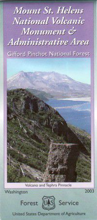 Mt. St. Helens Volcanic Monument Map