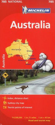 Australia Travel Map by Michelin