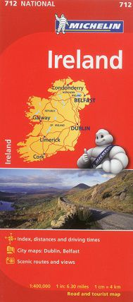 Ireland Travel Map by Michelin