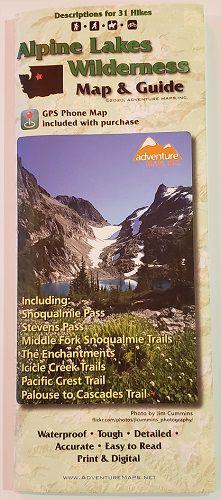 Alpine Lakes Trail Map l Adventure Maps