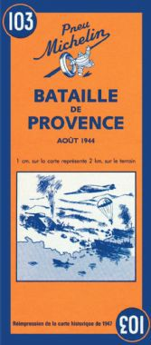 Battle of Provence Historical Map by Michelin