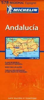 Andalucia, Spain Travel Map by Michelin