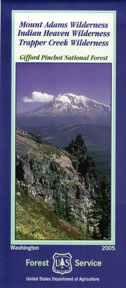 Mt. Adams / Indian Heaven / Trapper Creek Wilderness Map - WA