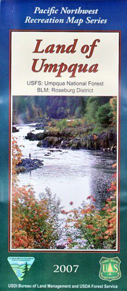 Land of Umpqua National Forest Map - OR