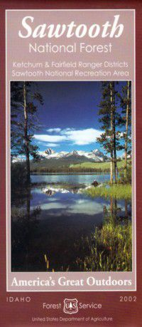 Sawtooth National Forest Map: Ketchum & Fairfield Ranger District - ID