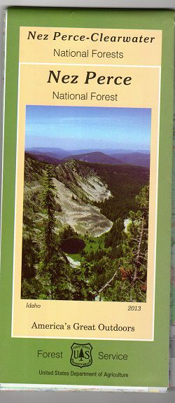 Nez Perce National Forest Map - ID