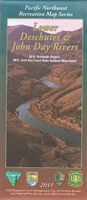 Lower Deschutes and John Day River National Forest Map - OR
