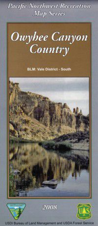 Owyhee Canyon Country Map - OR