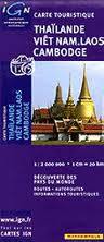 Thailand, Vietnam, Laos & Cambodia Travel Map by IGN