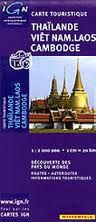 Thailand, Vietnam, Laos & Cambodia Travel Map by IGN