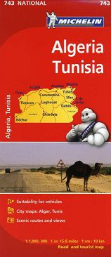 Algeria and Tunisia Travel Map by Michelin