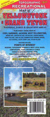 Recreation Map of Yellowstone
