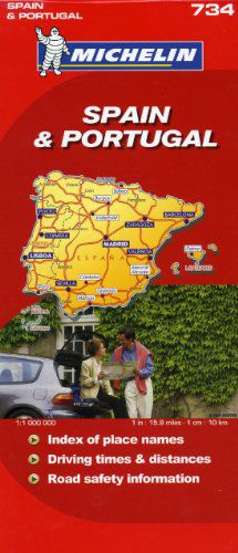 Spain & Portugal Travel Map by Michelin