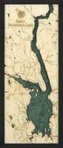 Great Sacandaga Lake, NY Woodchart