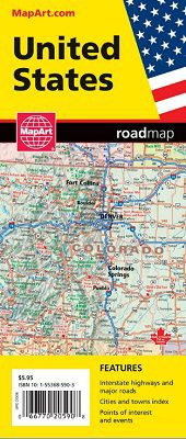 United States Roadmap by MapArt