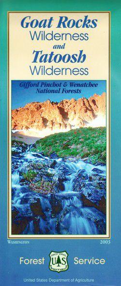 Goat Rocks Wilderness & Tatoosh Wilderness Map - WA