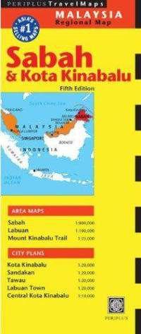 Sabah & Kota Kinabalu Travel Map by Periplus