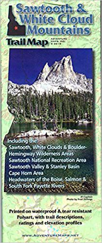 Sawtooth & White Cloud Mountains Hiking Map - Adventure Maps on minnesota chippewa national forest map, salmon-challis national forest map, city of rocks national reserve map, denali national park and preserve map, caribou national forest map, deerlodge national forest map, gallatin petrified forest map, idaho map, lewis and clark national forest map, mt. baker national forest map, bering land bridge national preserve map, butte valley national grassland map, gallatin national forest map, cache national forest map, custer national forest map, sawtooth range idaho, sawtooth wilderness, green mountain national forest map, cda national forest map, magic valley mall map,