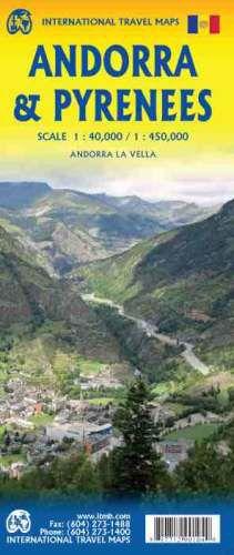 Andorra & Pyrenees Travel Map l ITM