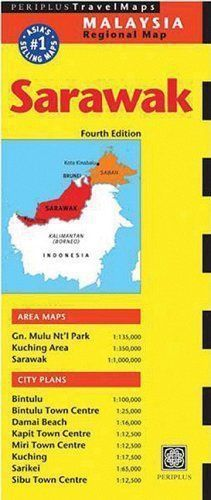 Sarawak Travel Map by Periplus