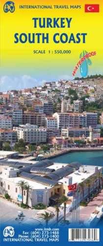 Turkey South Coast Travel Map by ITM