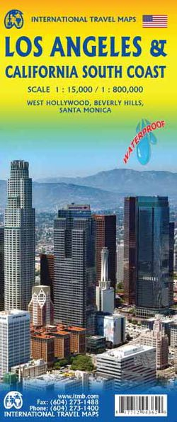 Los Angeles Tourist Map Road Travel Map Of California