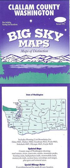 Washington State County Maps by Big Sky - Choose from the List