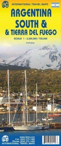 Argentina, South & Tierra Del Fuego Travel Map by ITM