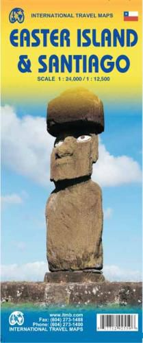 Easter Island & Santiago Travel Map by ITM