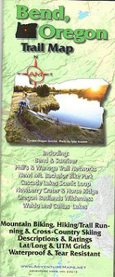 Bend Area Trail Map by Adventure Maps