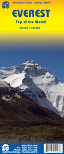 Everest Travel & Climbing Map by ITM