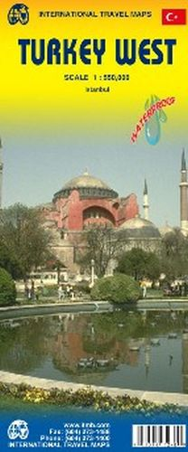 Turkey West Travel Map by ITM