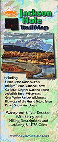 Jackson Hole Trail Map by Adventure Maps