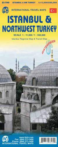 Istanbul & Northwest Turkey Travel Map by ITM