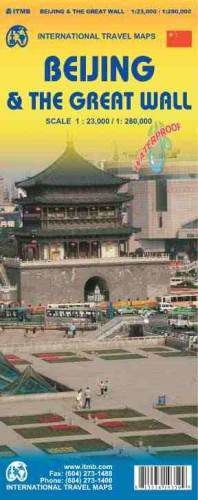 Beijing & the Great Wall Travel Map by ITM