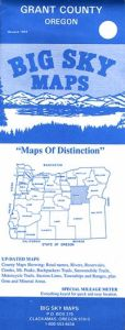 Oregon County Maps by Big Sky - Choose from the List