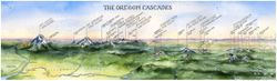 Oregon Cascades Watercolor Map l Elizabeth Person