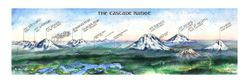 Cascades Range Watercolor by Elizabeth Person