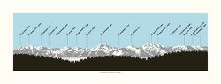 Olympic Mountains Profile Poster by Powerslide