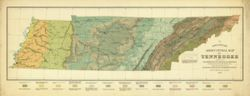 Antique Map of Tennessee 1896 - Agricultural