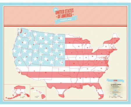 Scratch Maps United States Usa Scratch Map Scratch It Map - Us-scratch-map